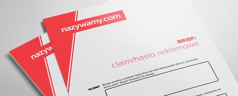 Brief na claim/hasło reklamowe