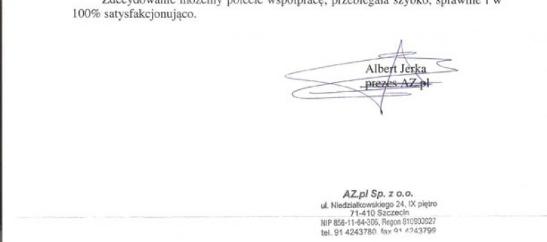 Nazwa i claim – referencje AZ.pl