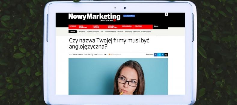 W mediach: Nowy Marketing