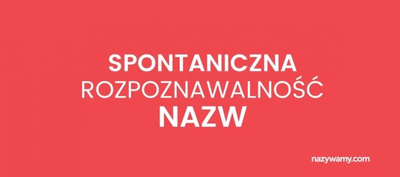 Test na spontaniczną rozpoznawalność nazw